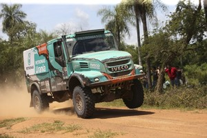 De truck van Gerard de Rooy. © EPA