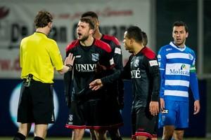 Joey van der Berg is woedend. © ANP Pro Shots