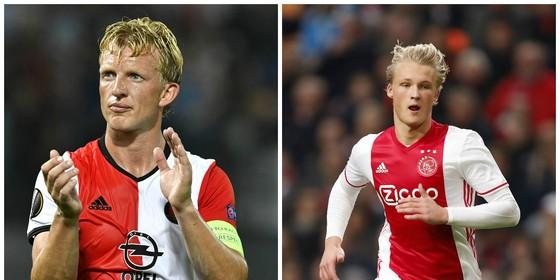 Dirk Kuyt (l) en Kasper Dolberg hervatten met respectievelijk Feyenoord en Ajax de competitie. © Hollandse Hoogte